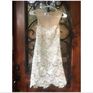 Misguided White Illusion Dress ASOS